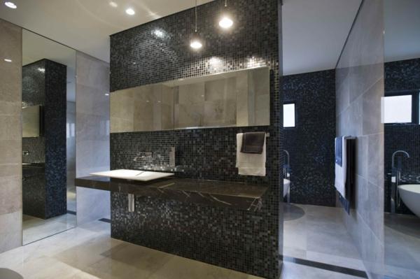 Le carrelage mosaique pour la d co de la salle de bains for Salle de bain mosaique noir
