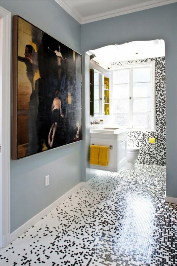 carrelage-mosaique-petites-tuiles-en-blanc-et-noir