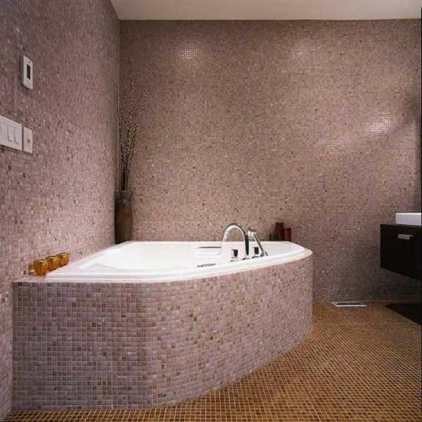 carrelage salle de bain rose. salle de bain rose et marron ... - Carrelage Salle De Bain Rose
