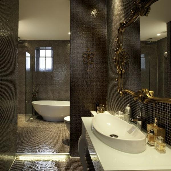 carrelage-mosaique-salle-de-bains-élégante