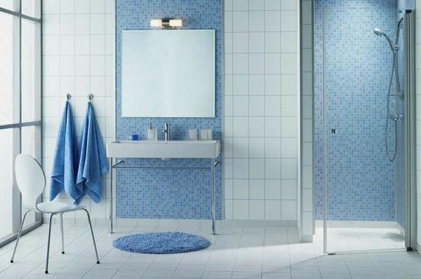 le carrelage mosaique pour la dco de la salle de bains - Faience Bleue Salle De Bain