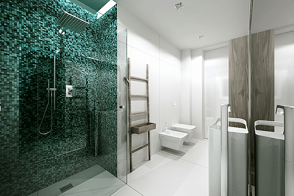 Le carrelage mosaique pour la d co de la salle de bains for Carrelage salle de bain vert emeraude