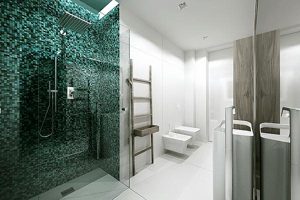 mosaique salle de bain blanche salle de bain blanche et marron carrelage de salle de bain mural. Black Bedroom Furniture Sets. Home Design Ideas
