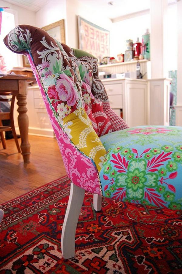 chaise-coloree-vintage