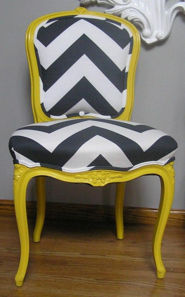 chaise-jaune-baroque-gris