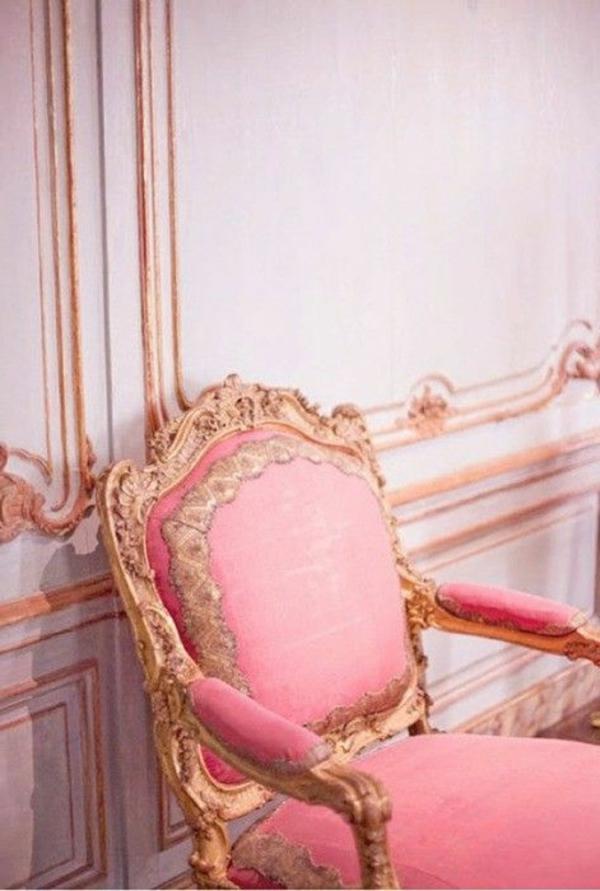chaise-vintage-en-rose-chambre