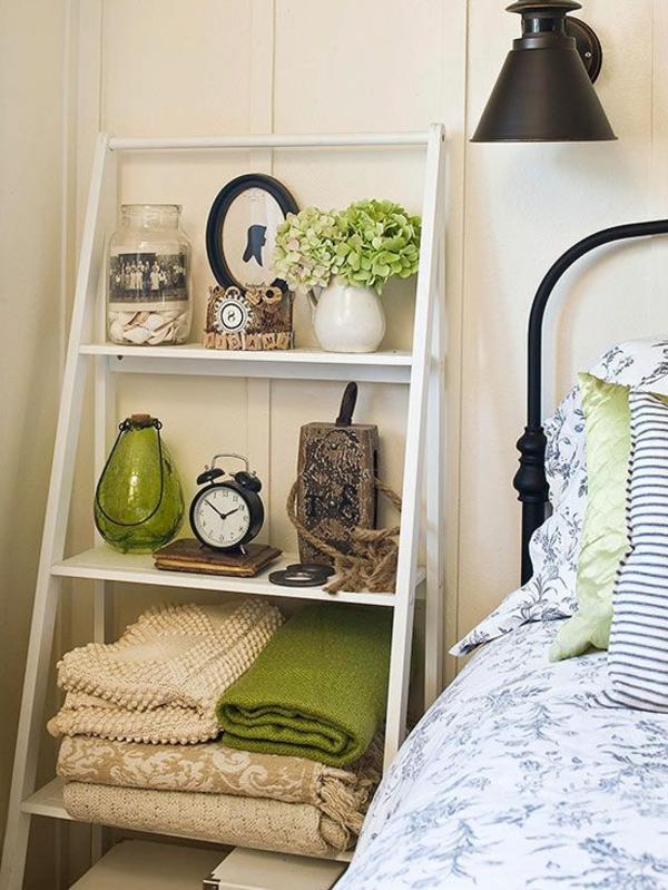 chambre-à-coucher-vert-détails-régale-échelle