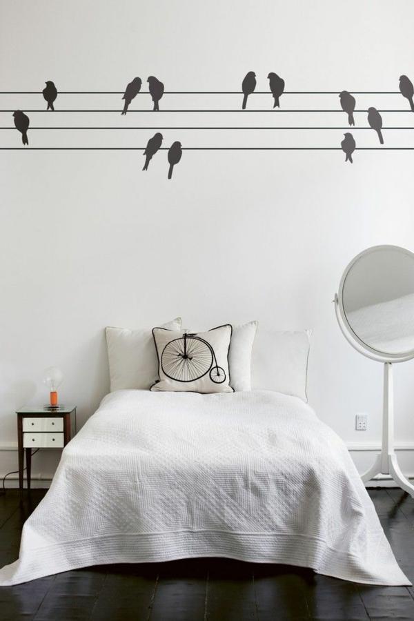chambre-blache-oiseaux-sticker-chambre-adulte-décoration