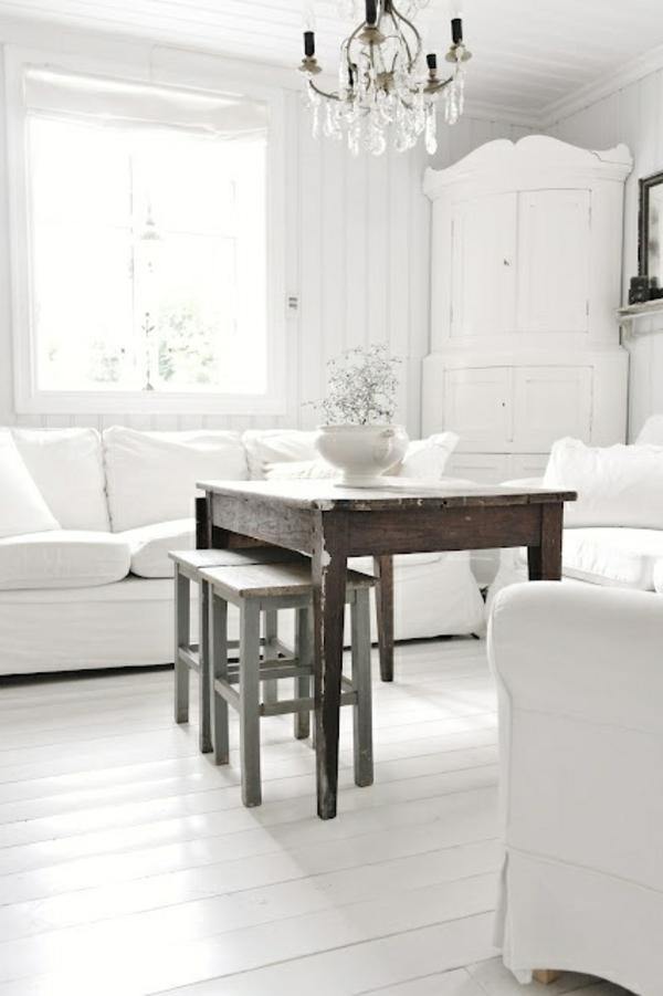 chambre-blanche-salon-salle-à-manger-Vintage-style-de-gustave