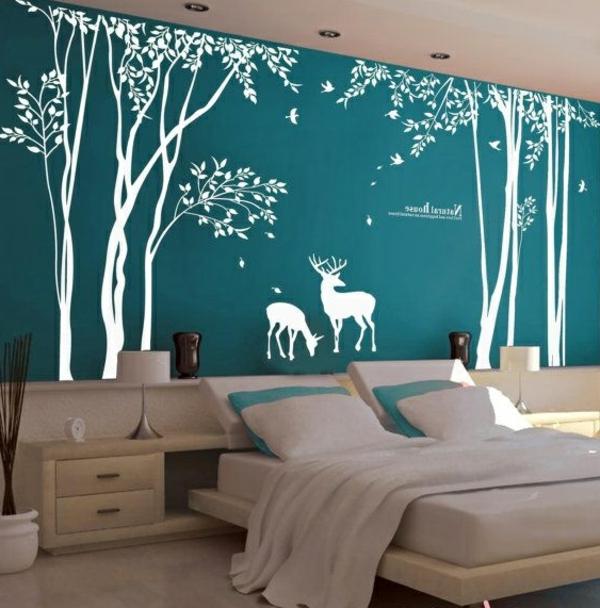 chambre-bleue-nature-arbres-stickers-de-mur
