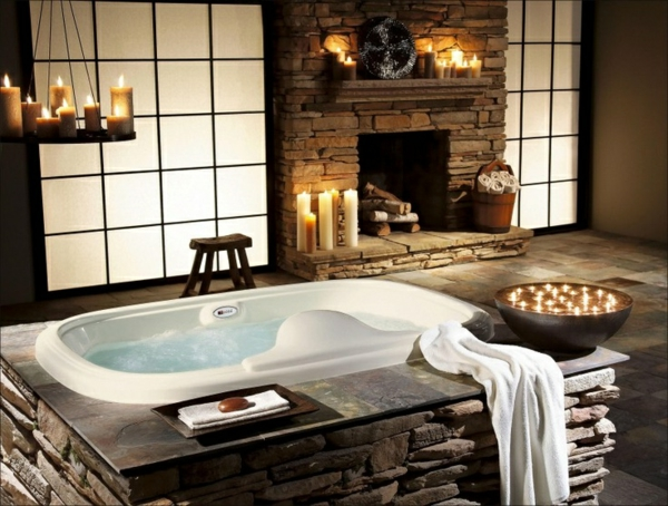 chambre-d'hôtel-avec-jacuzzi-un-intérieur-rustique