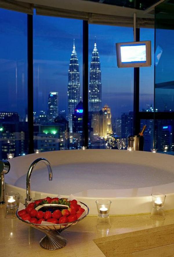 Chambre d 39 h tel avec jaccuzi int rieurs inspirants et vues splendides - Hotel avec cuisine new york ...