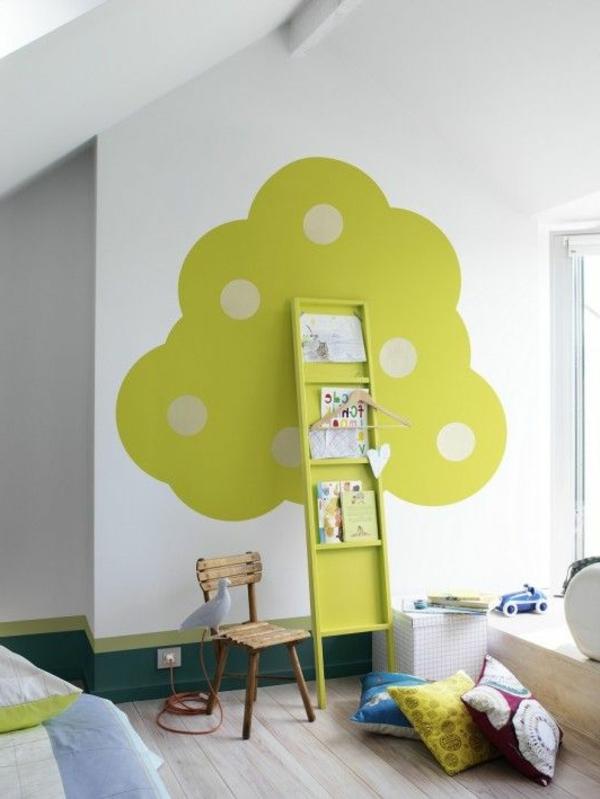 chambre-enfant-avec-étagère-échelle