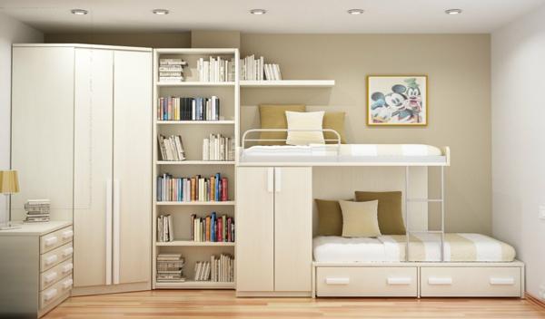 chambre-enfant-beige-Mobilier-modulaire-pour-gaigner-espace
