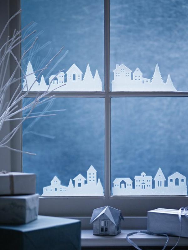 chambre-fenêtre-noel-cadeaux-décoration