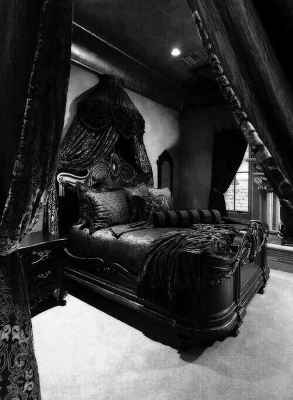 chambre-noir-gothique