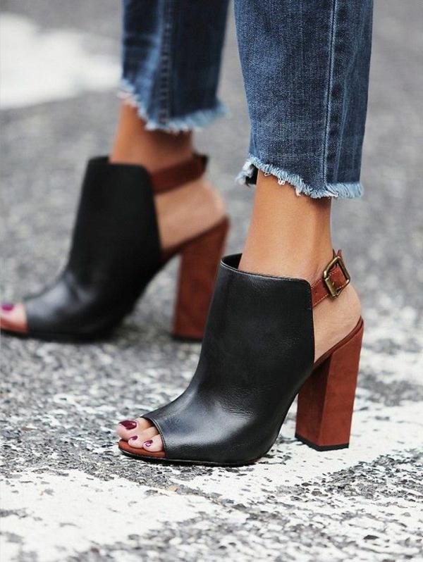 chaussures-à-talon-beige-noir-bois
