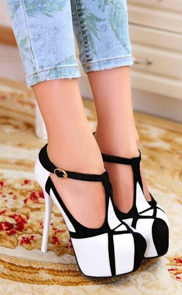 chaussures-à-talon-haut-blanc-noir