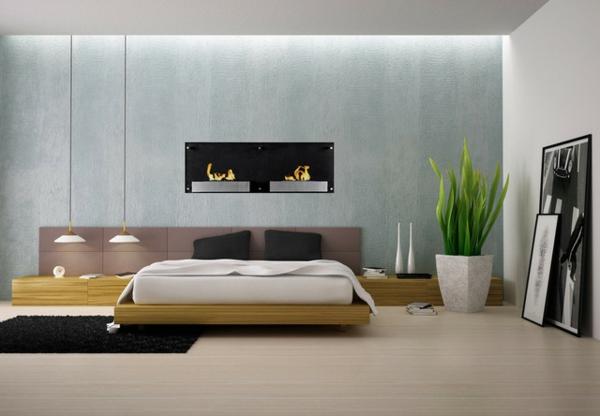 cheminée-bio-éthanol-chambre-à-coucher-minimaliste