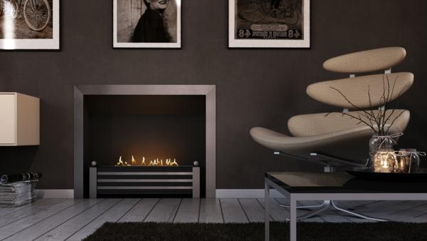 La cheminée bio éthanol - décoration fantastique avec des flammes ...