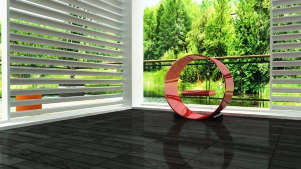 cheminée-bio-éthanol-design-rouge-foyer-suspendu