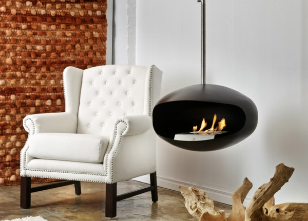 Decoflame Ellipse Flueless Fire: Cheminee Bio Ethanol Suspendue