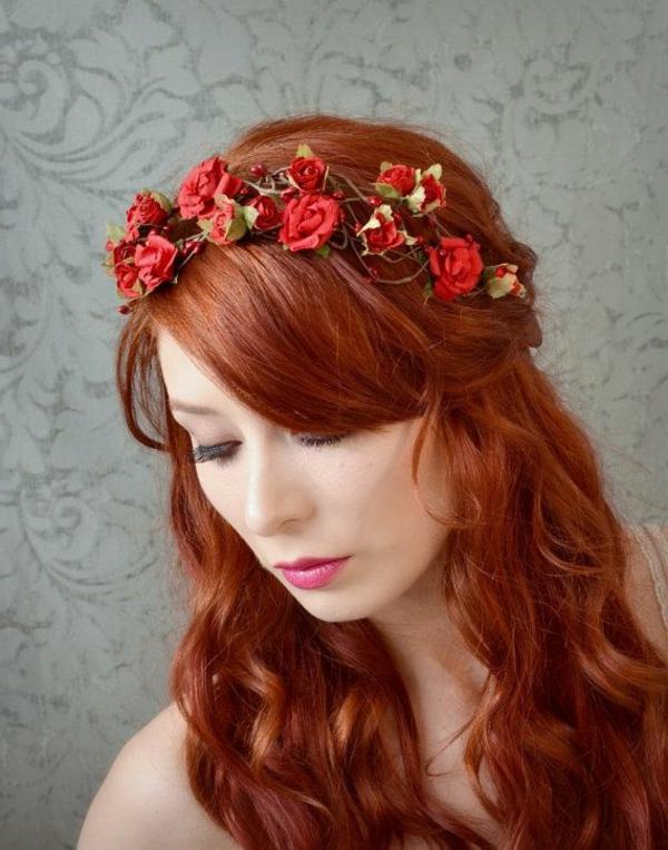 cheveux-rouges-couronne-fleurs