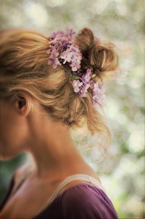 chignon-romantique-fleur