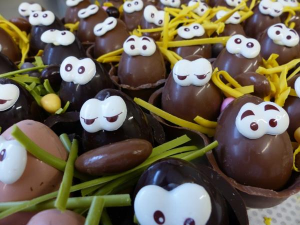 chocolat-pour-la-fête-de-Pâques-figures-amusantes