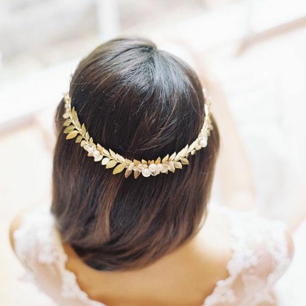 couronne-fleurs-doré-brun