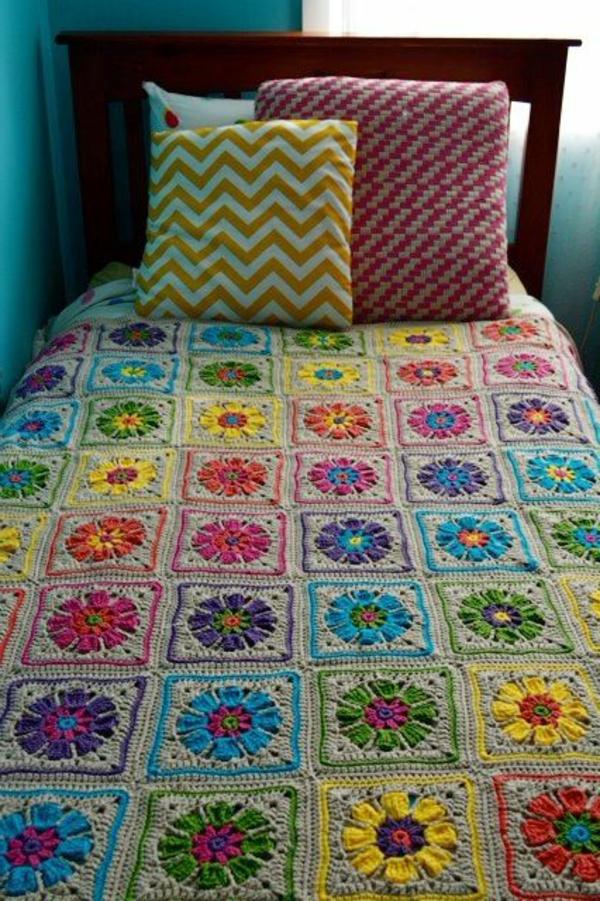 couverture-au-crochet-lit