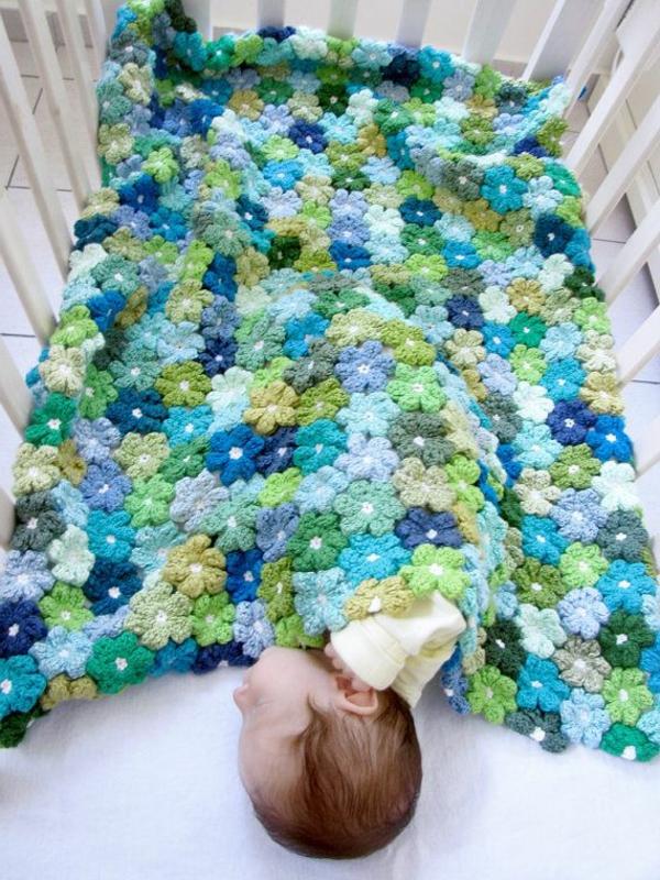 couverture-tricoté-bébé