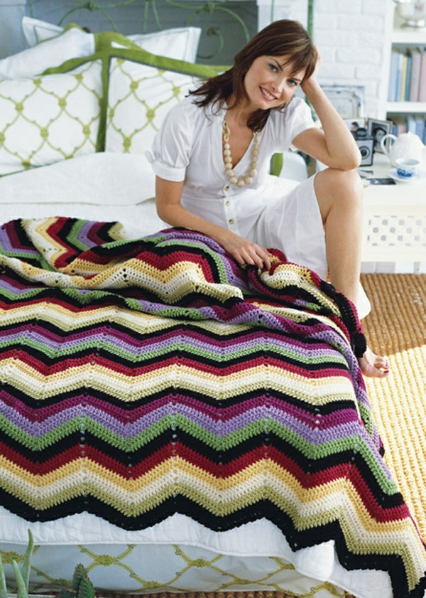 couverture-tricoté-pour-lit