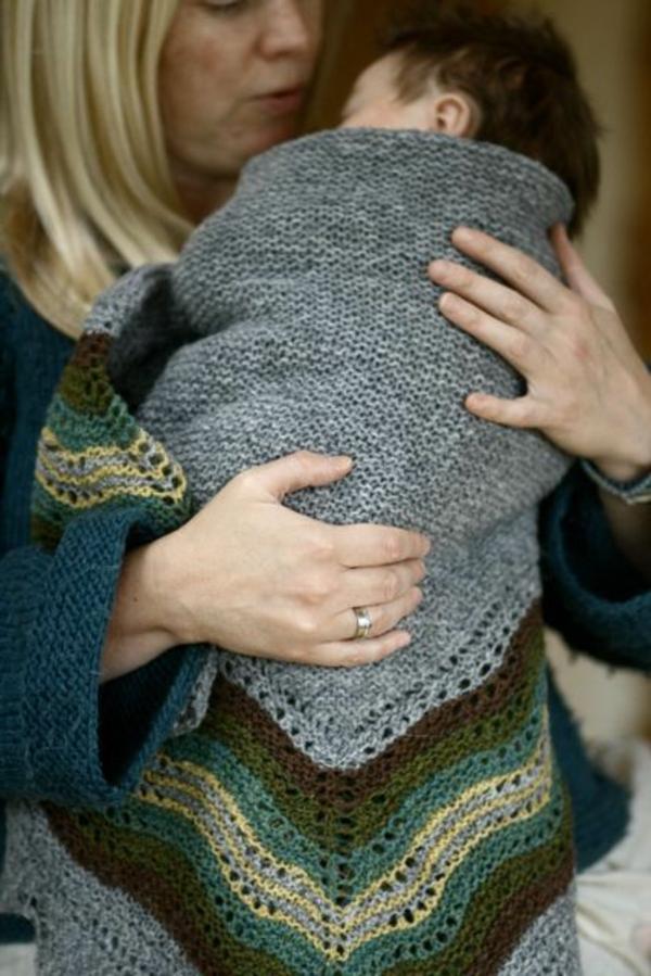 couverture-tricotée-pour-bébé