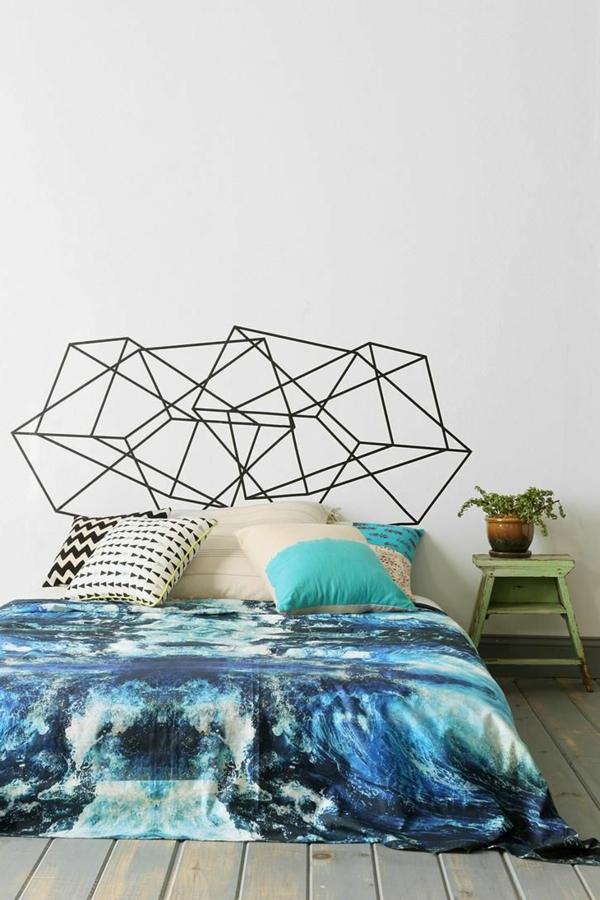 couvre-lit-jolie-tête-lit-intéressante-géométrique-en-formes-jolie