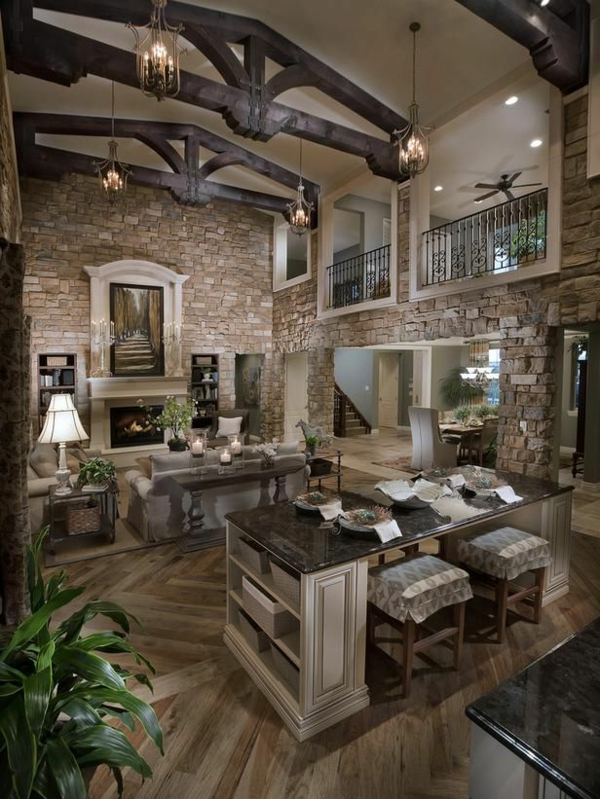Modele Salle De Bain Orientale : créative-pierre-de-parement-intérieur-mur-intérieur-brun-bois-et …