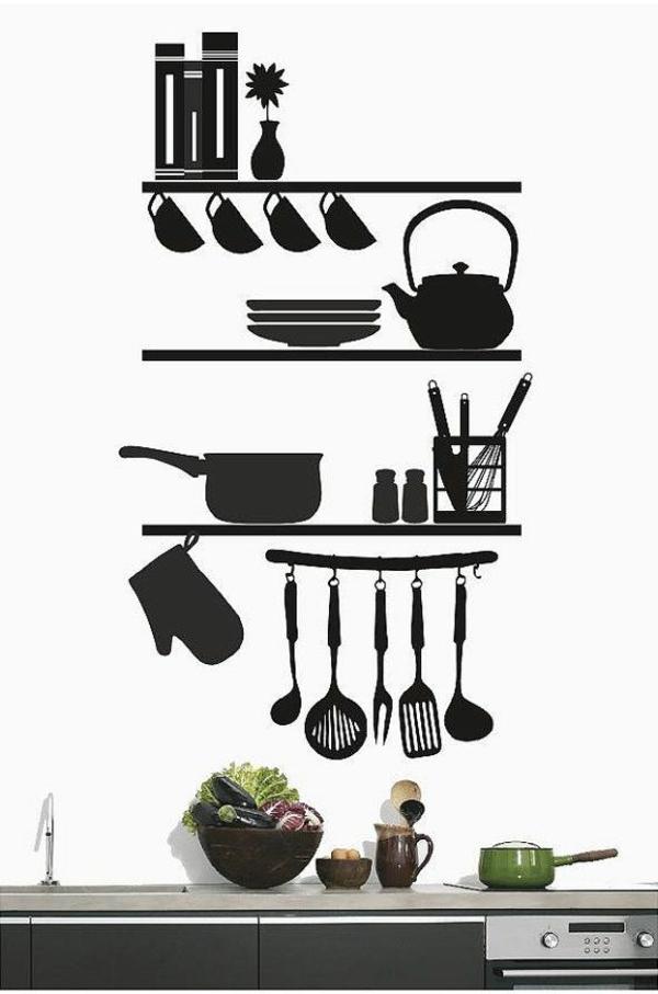 cuisine-avec-stickers-noirs-idée-créative