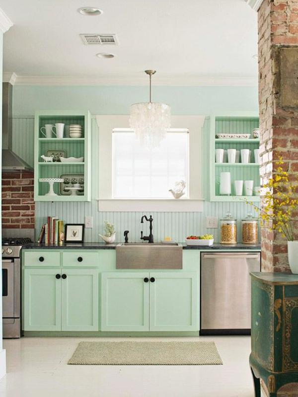 Les plus belles cuisines qui vont vous inspirer - Cuisine peinte en vert ...