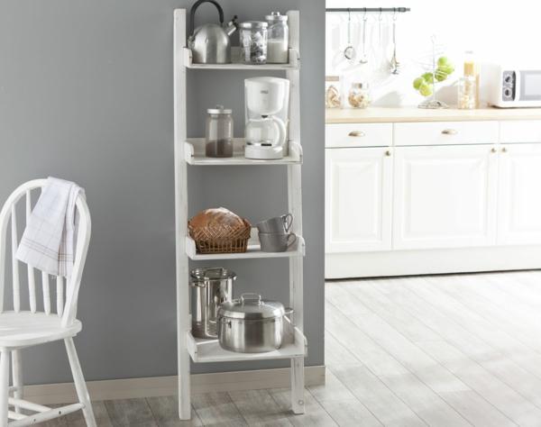 cuisine-table-salle-à-manger-echelle-rangement
