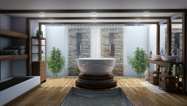 D co salle de bain zen - Idee couleur salle de bain zen ...