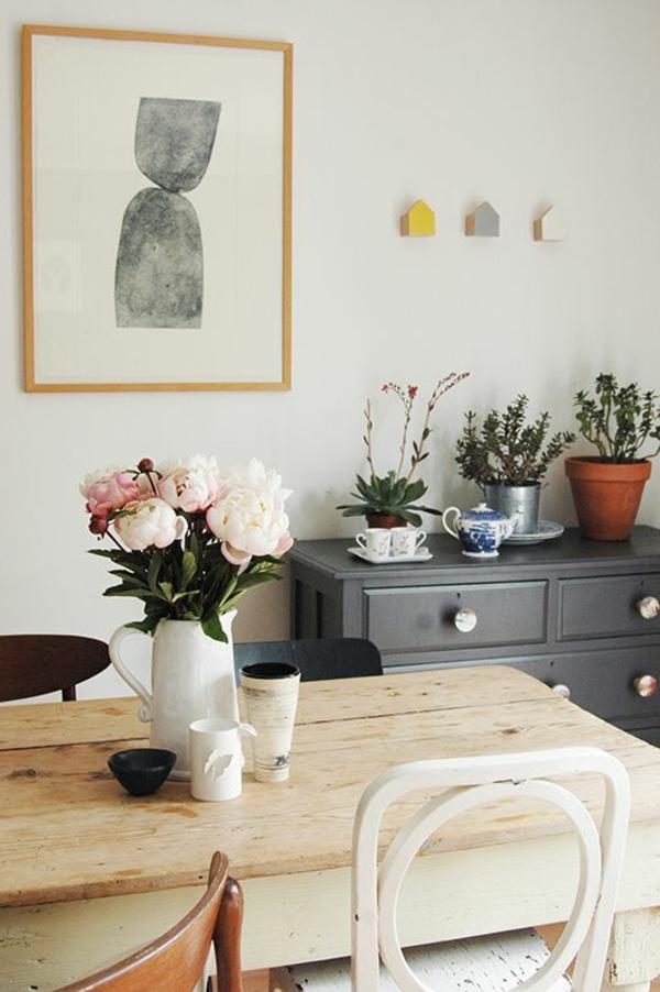 déco-salle-de-séjour-avec-des-fleurs