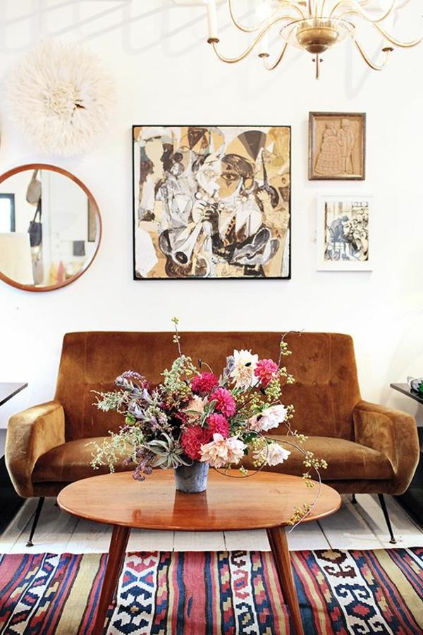 déco-salle-de-séjour-motifs-ethniques-avec-fleurs