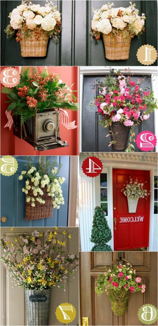 décoration-avec-fleur-porte-d-entréе