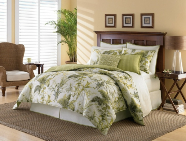 décoration-chambre-à-coucher-jolie-ambiance-proche-de-la-nature-plante