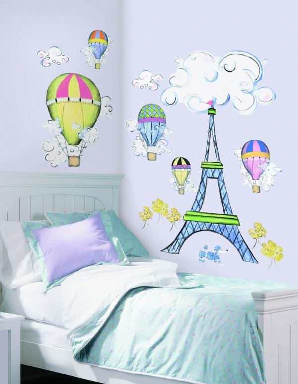 décoration-conte-de-fée-balon-tour-effel-nuage-wall-art-mur
