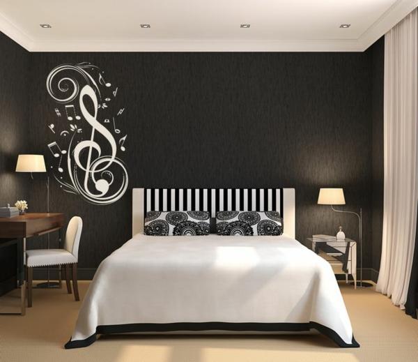 stickers chambre adulte lesquels choisir. Black Bedroom Furniture Sets. Home Design Ideas
