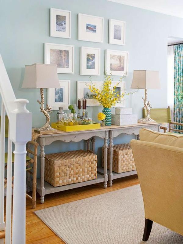 décoration-de-salon-détails-jaunes-fleur-jaune