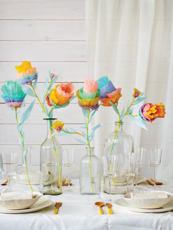 décoration-fleurale-avec-rose-table