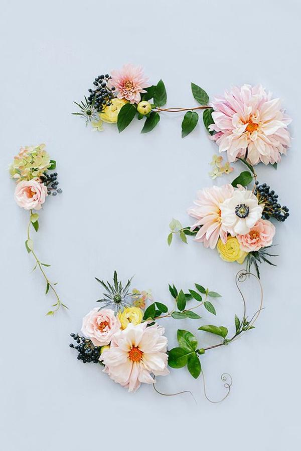 décoration-florale-avec-rose-ronde