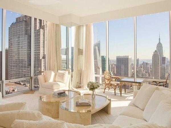 décoration-new-yorkais-appartement-stylé-chambre-blanche-salon-bien-aménagé